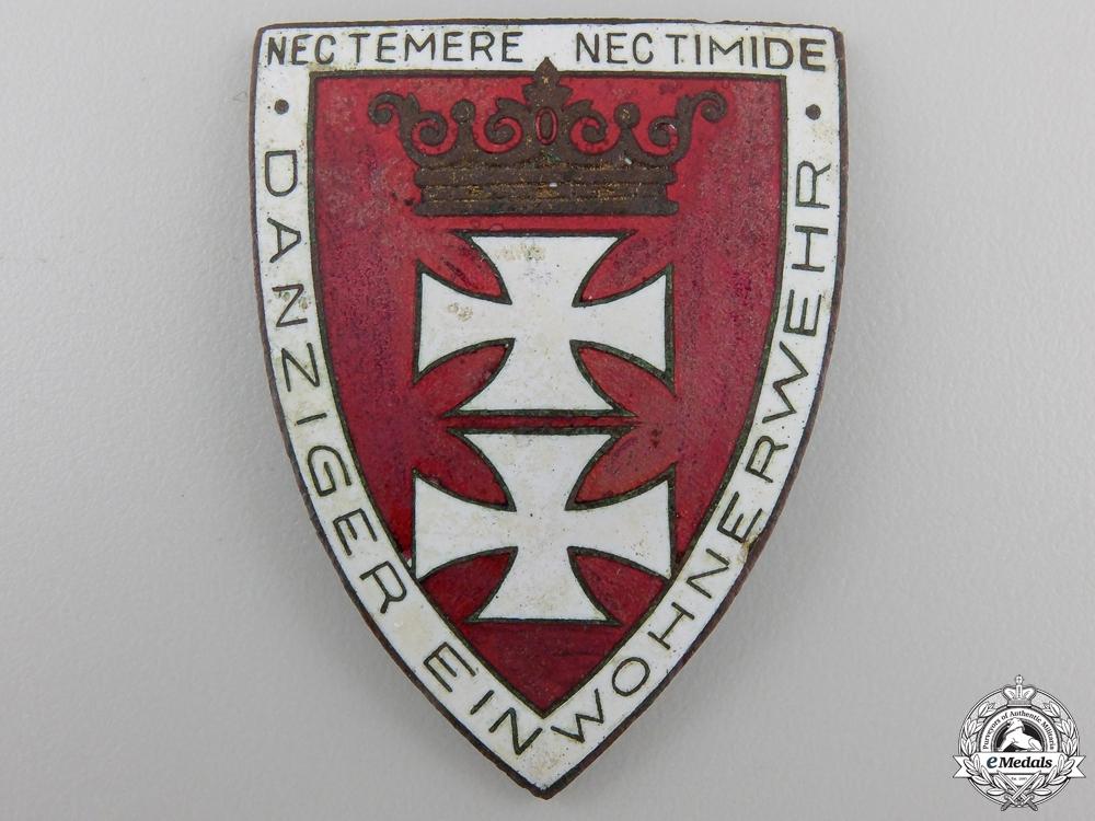 A Freikorps Danzig-Shield for Faithful Service