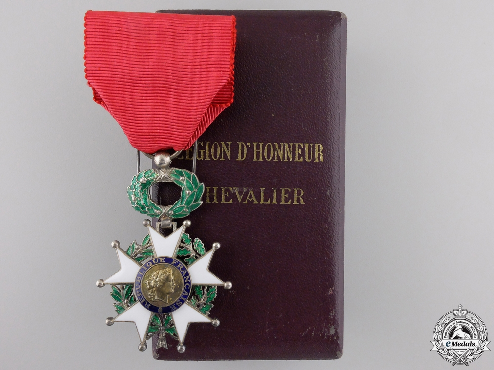 A French Legion D'Honneur; Fourth Republic with Case