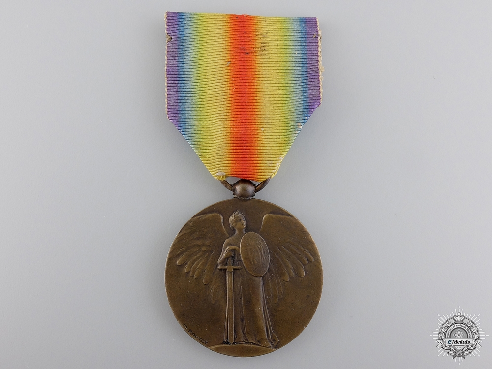 A French Victory Medal 1914-18; Unofficial Type 2