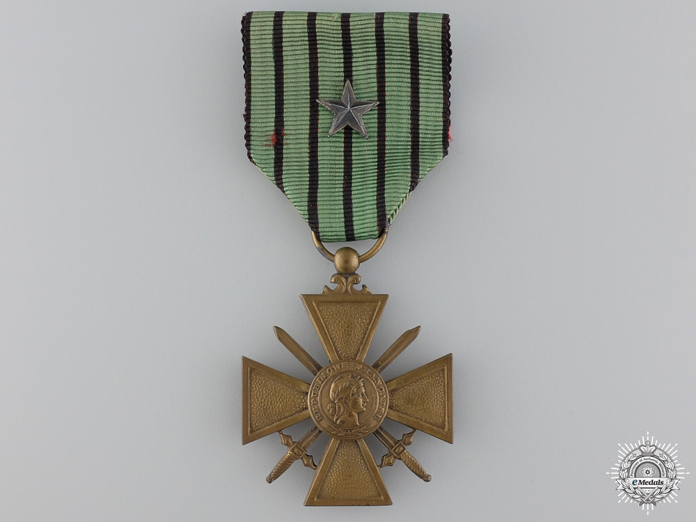 A French WWII War Cross; Type II (Vichy Government)