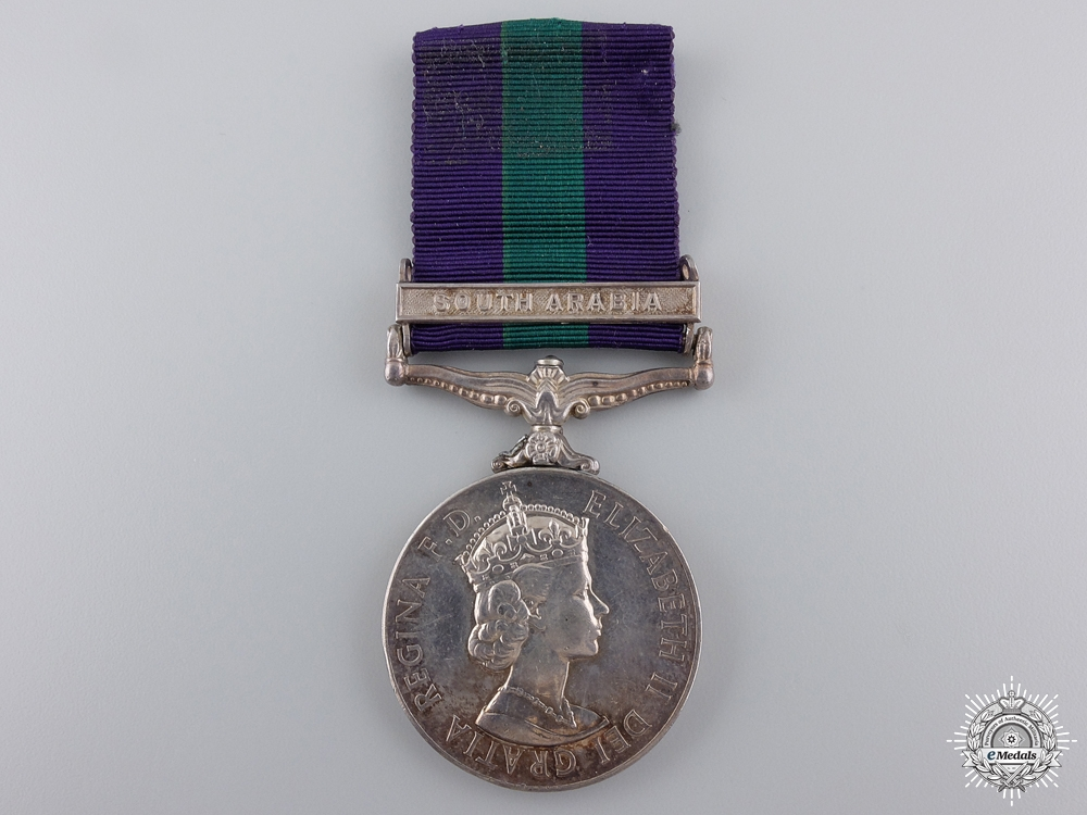 A General Service Medal to the Royal Northumberland Fusiliers