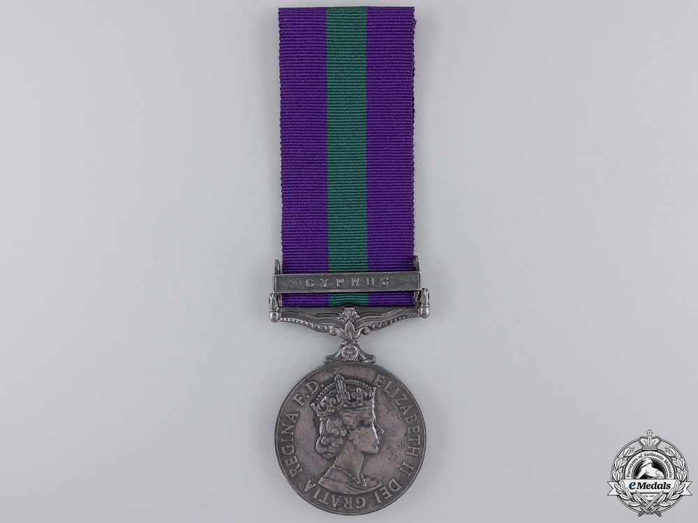 A General Service Medal to the Royal Army Pay Corps