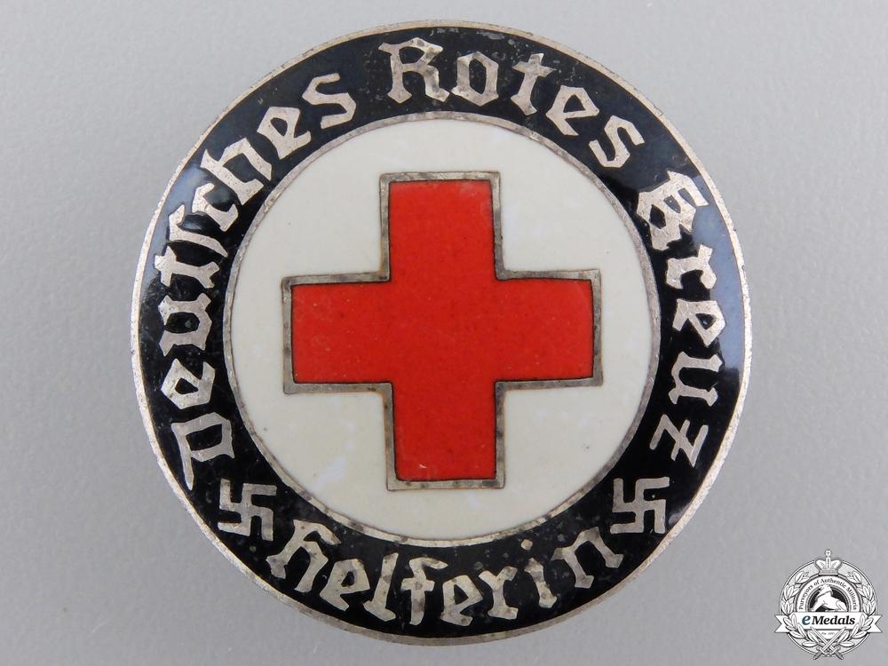 A German DRK Helper's Service Badge