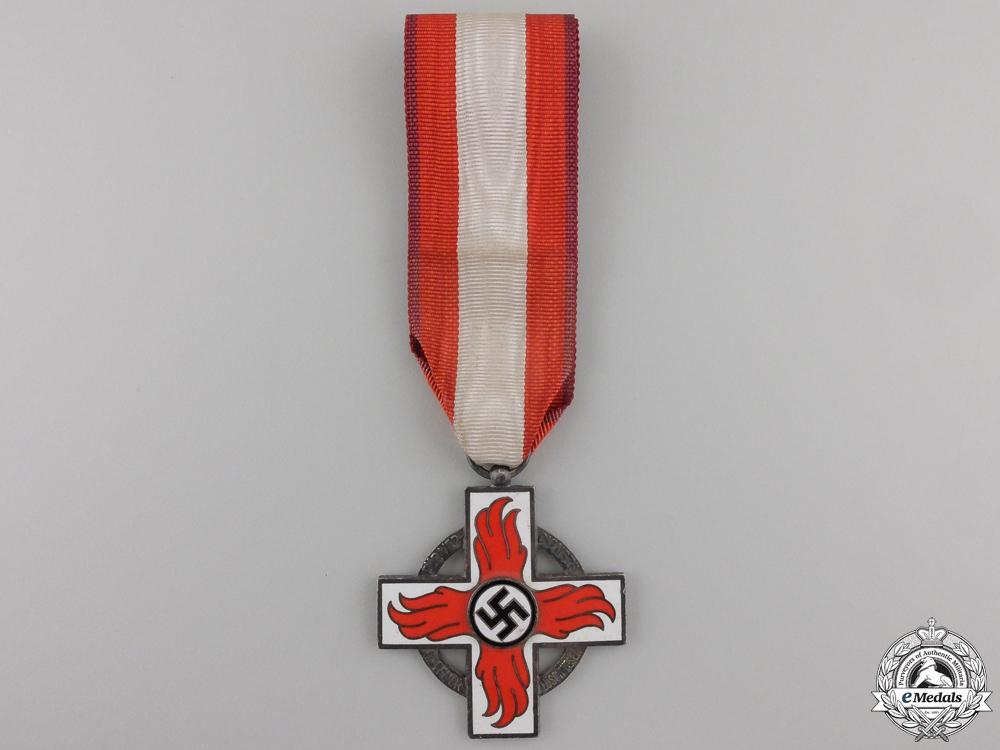 A German Fire Brigade Cross; Second Class