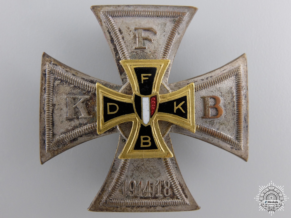 A German Friekorpsbund (FKB) Veteran's Association Badge 1914-1918