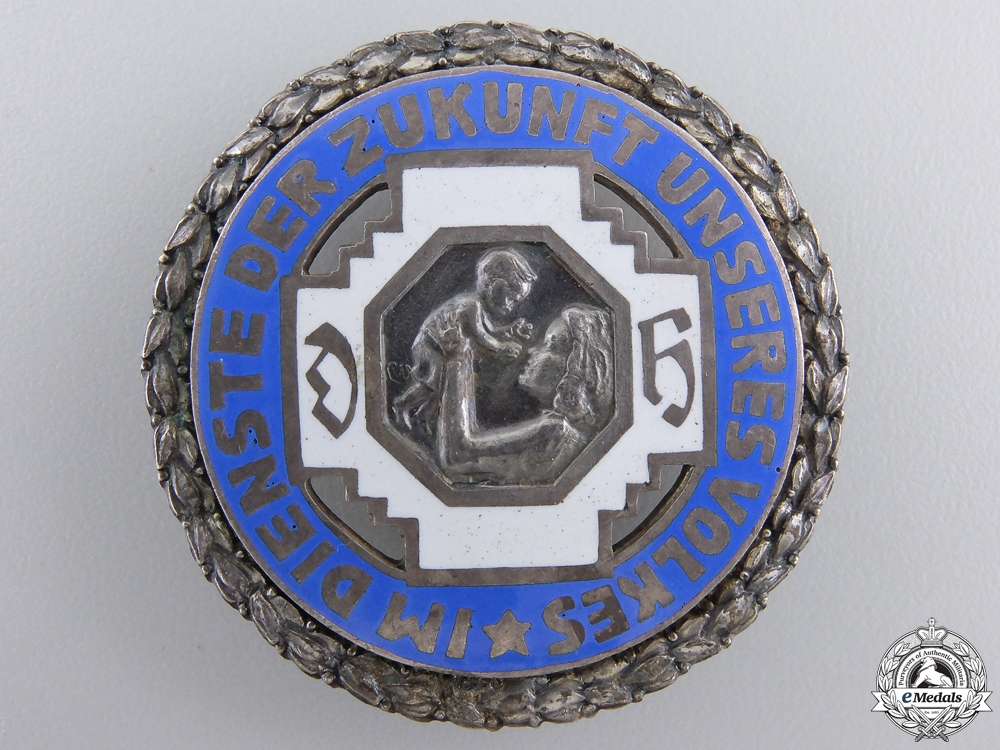 A German Midwives Organization Silver Merit Badge