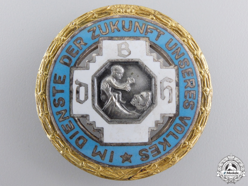 A German Midwives Organization Golden Merit Badge