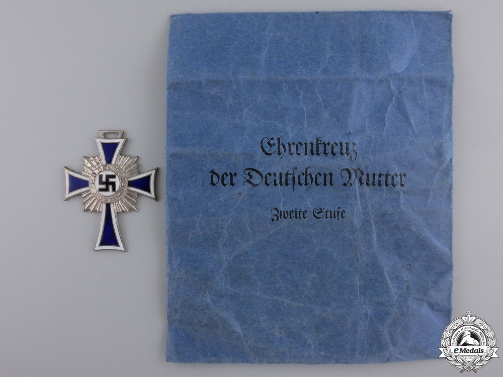 A German Mother's Cross; Silver Grade with Packet