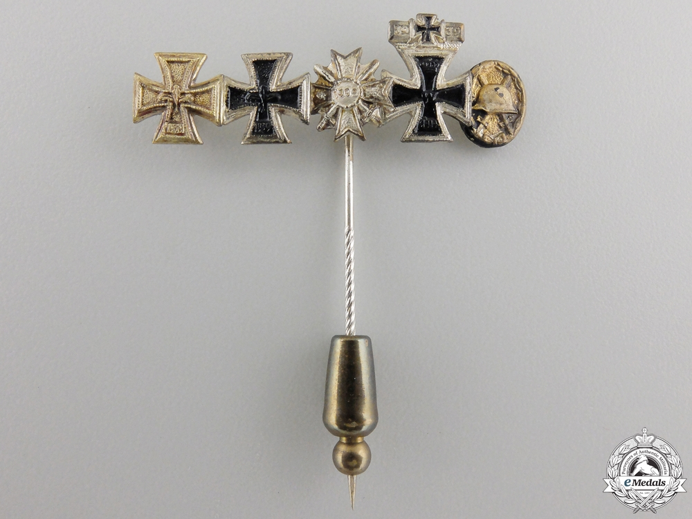 A German Stickpin with Five Awards; 1957 Version