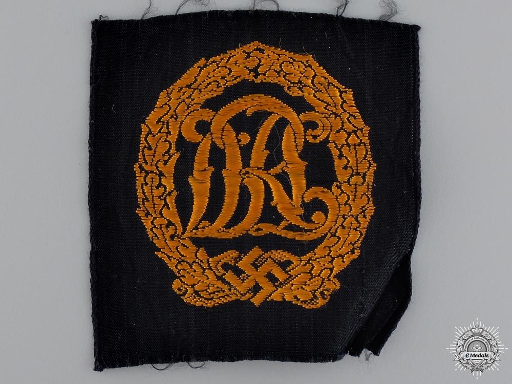 A Gold Grade DRL Badge; Cloth Version