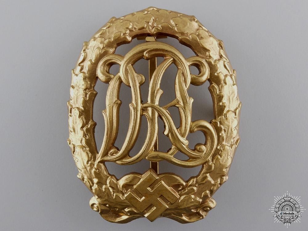 A Gold Grade DRL Sport Badge by Wernstein Jena
