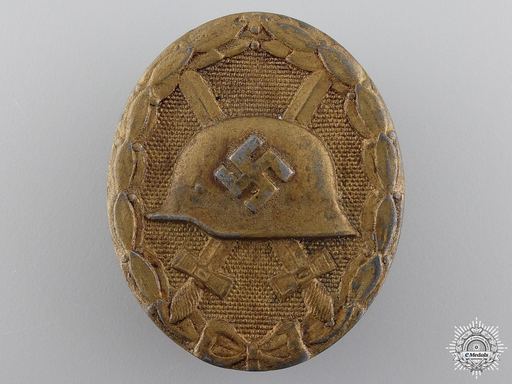 A Gold Grade Wound Badge by B H Mayer