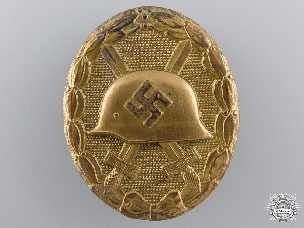 A Gold Grade Wound Badge