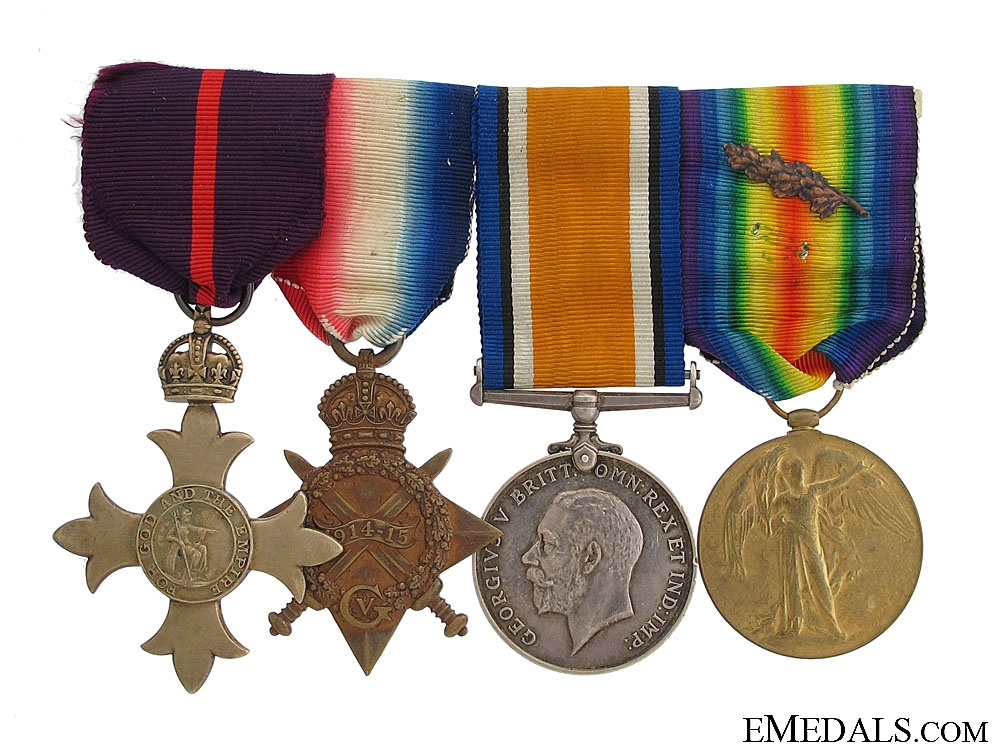 A Great War O.B.E. Group Awarded to Major J.D.Drysdale