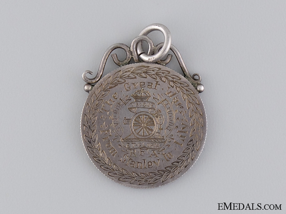 A Great War Royal Artillery Commemorative Medal