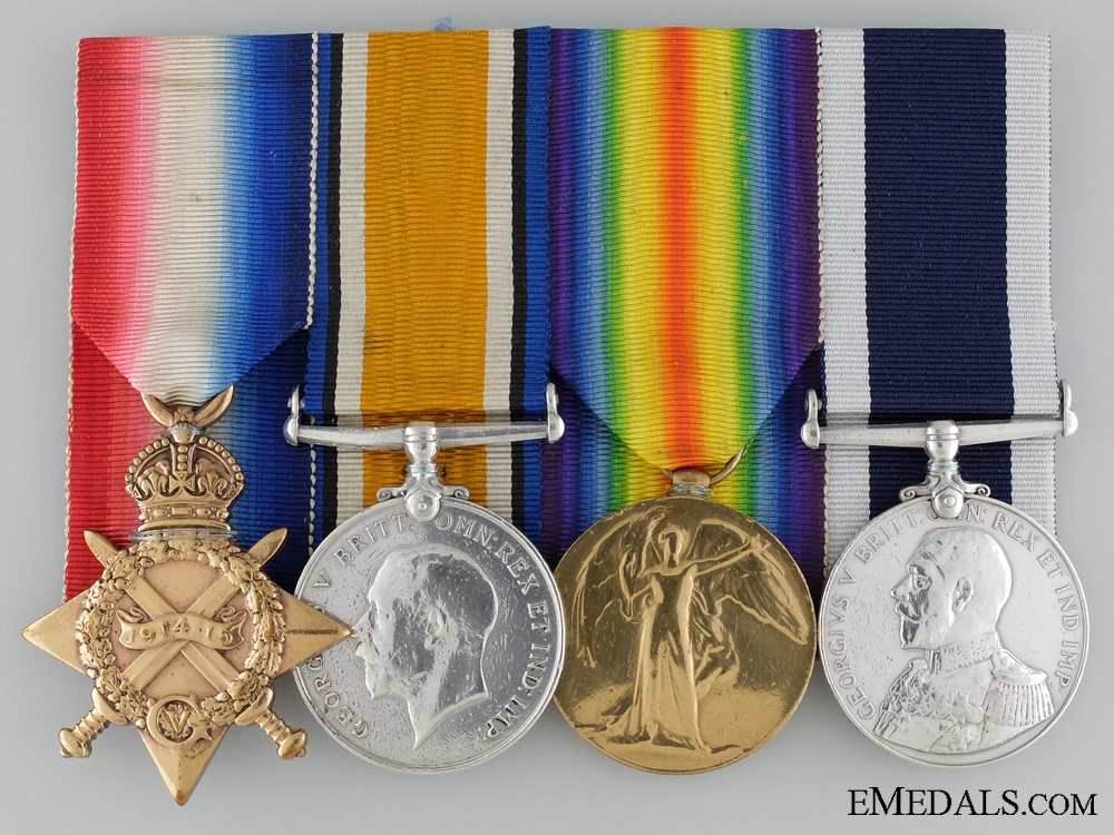 A Great War Submariner's Group of Four to the Royal Navy