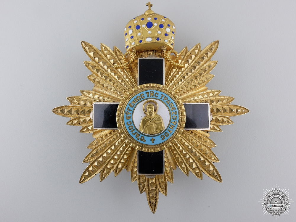 A Greek Orthodox St. Eugene of Trabzon Breast Star by Alberti &Co.