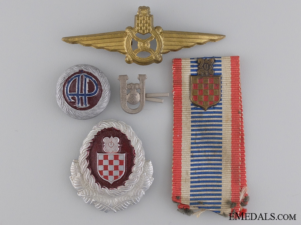 A Group of Second War Croatian Insignia