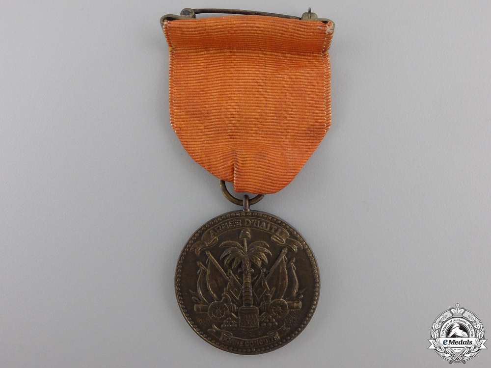 A Haitian Army Soldier's Medal