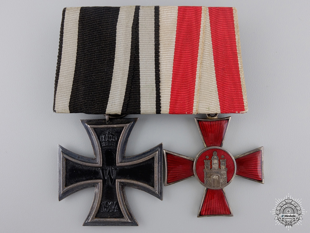 Germany, A Hamburg Hanseatic Cross Medal Pair