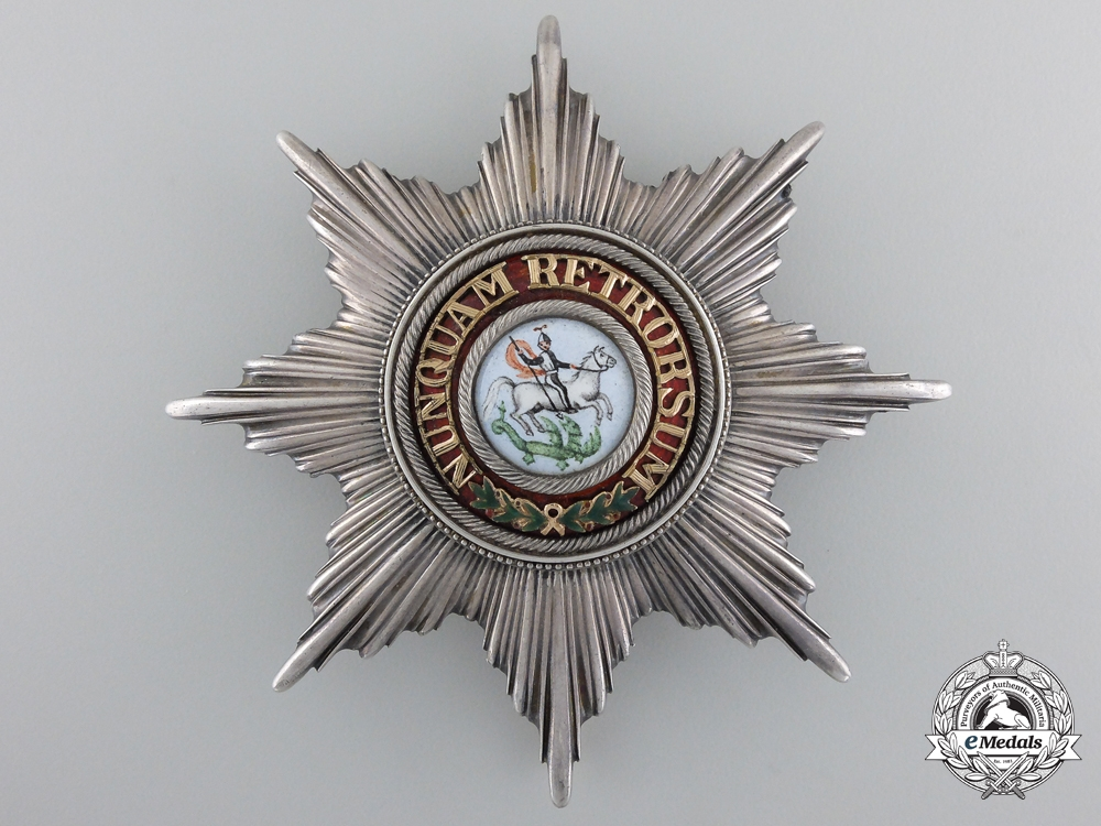 Hanover, Kingdom. An Order of St. George, Grand Cross Star, c.1860