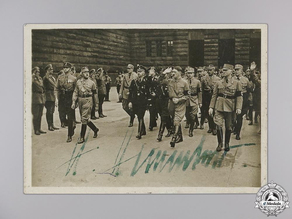 A Heinrich Himmler Signed Photograph
