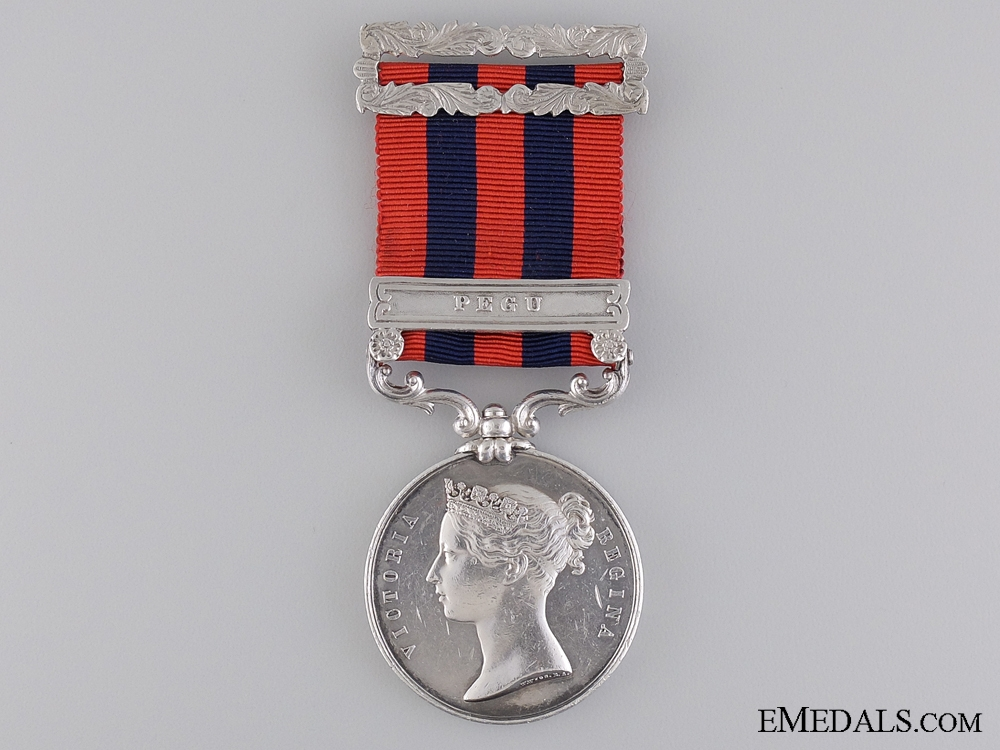 A India General Service Medal to the 1st European Bengal Fusiliers