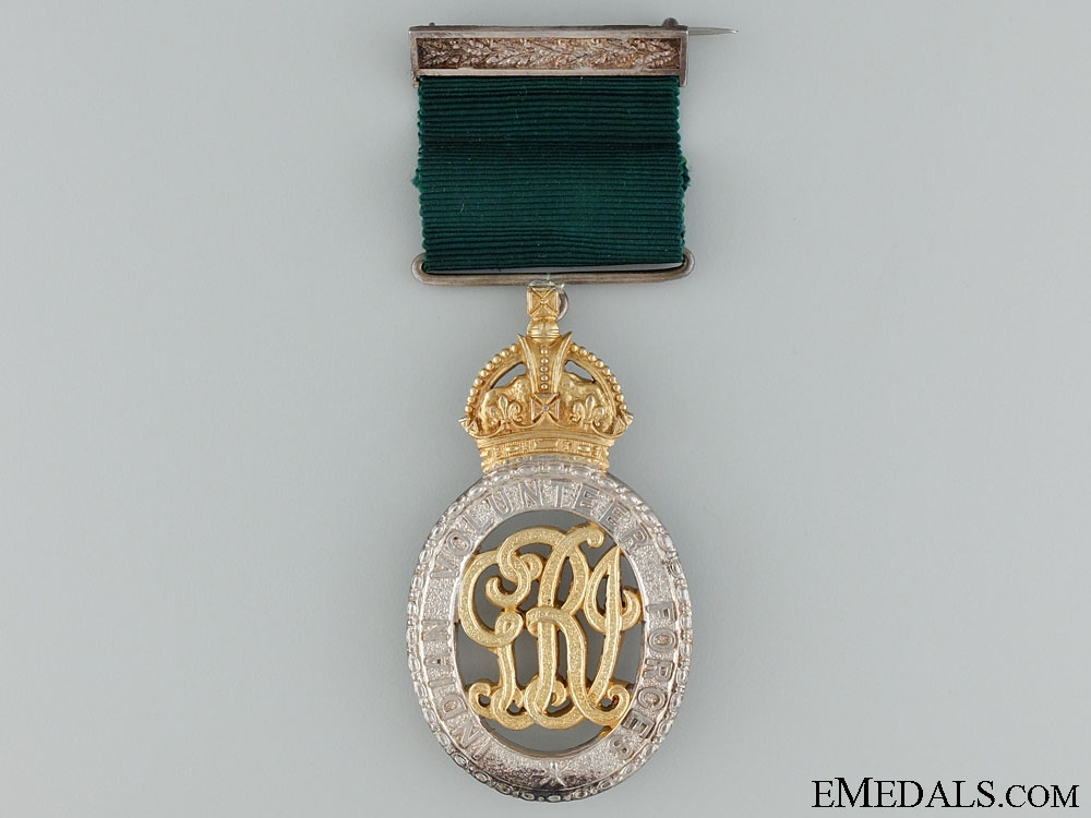 Indian Volunteer Forces Officers' Decoration - Coorg & Mysore R