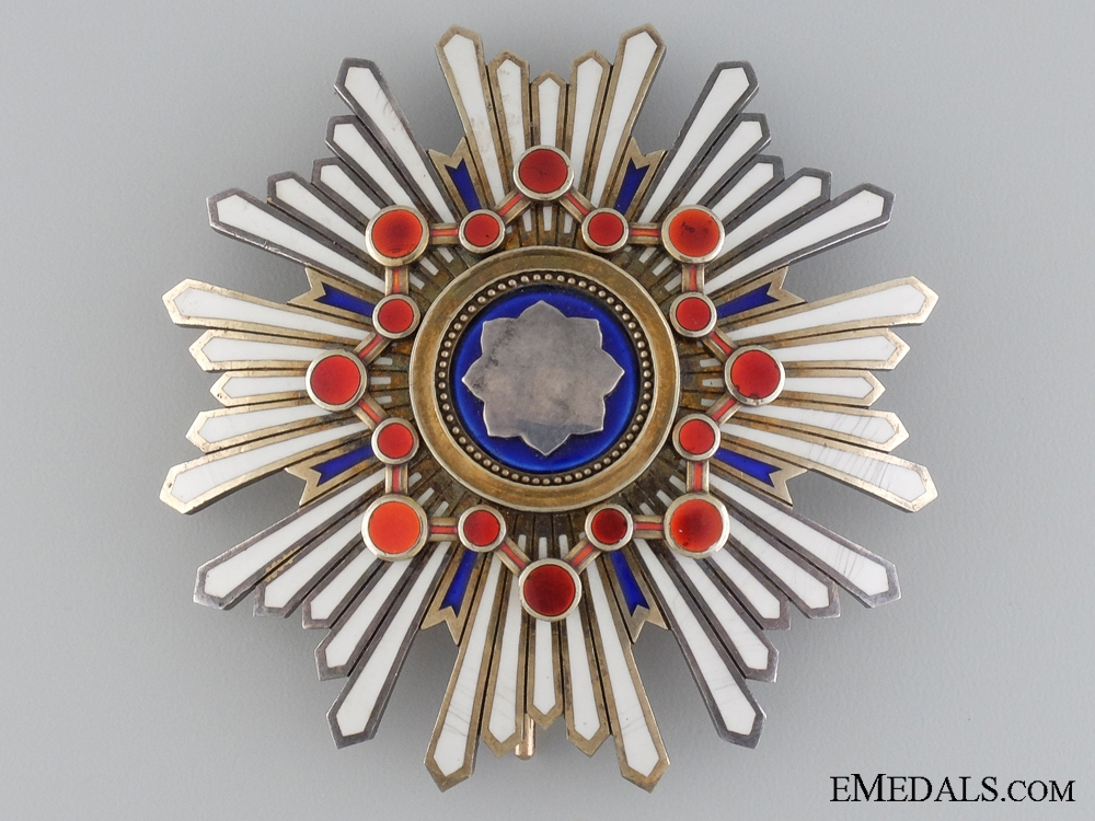 A Japanese Order of the Sacred Treasure; First Class Star