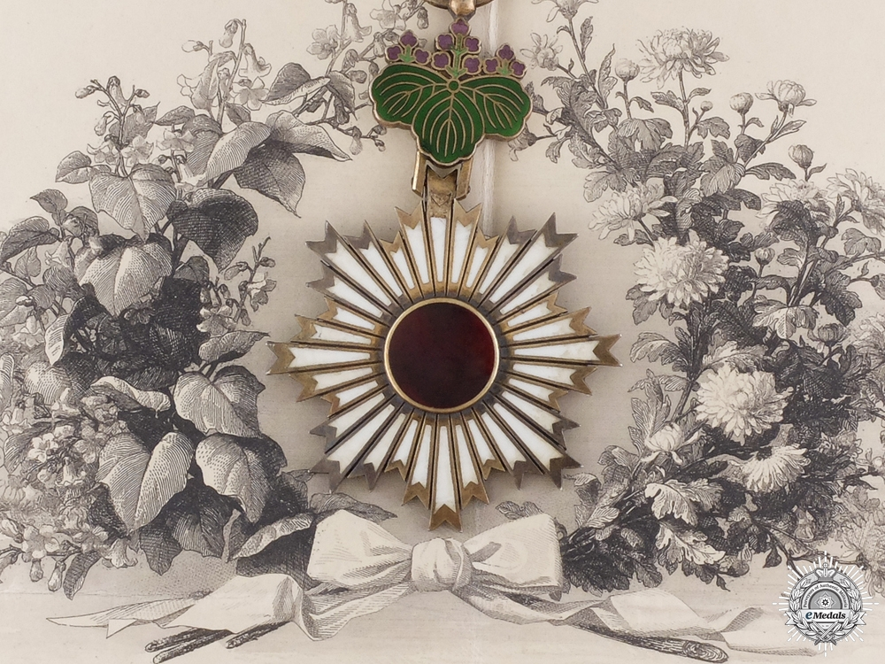 A Japanese Order of the Rising Sun Awarded to German Hauptmann