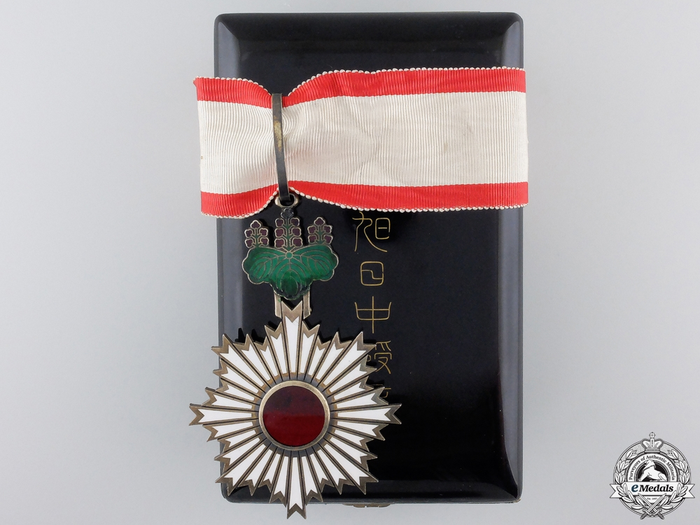 A Japanese Order of the Rising Sun; 3rd Class Commander