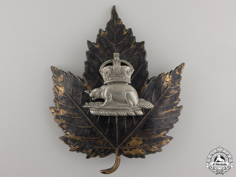 A King's Crown Canadian Police (Bobby Helmet) Beaver Badge