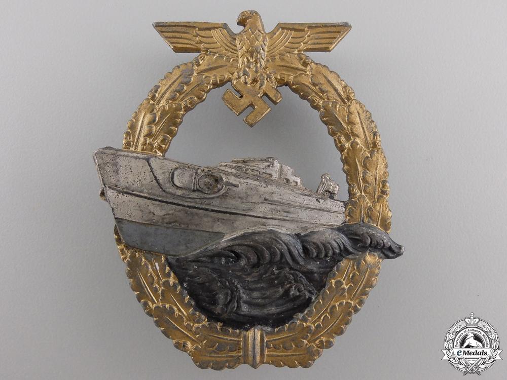 A Kriegsmarine 2nd Pattern E-Boat Badge by Schwerin