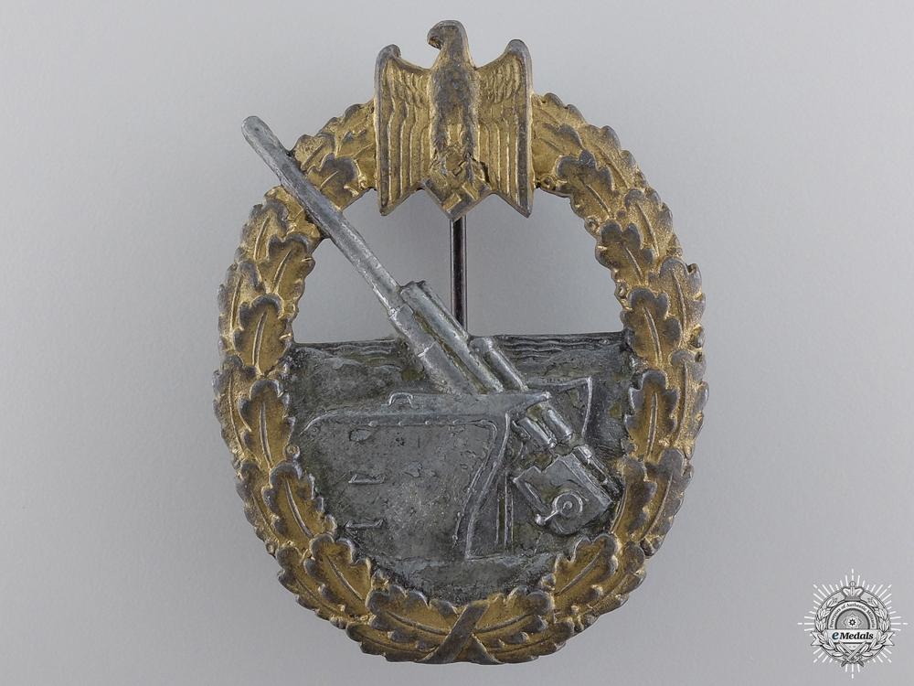 A Kriegsmarine Coastal Artillery Badge