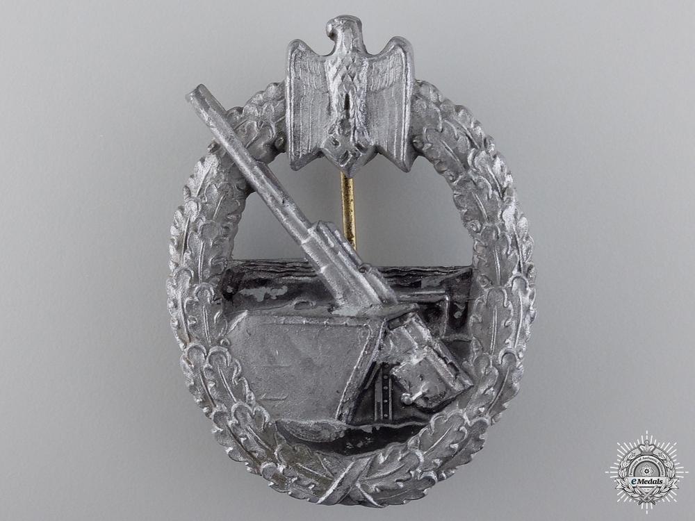 A Kriegsmarine Coastal Artillery Badge by Hermann Aurich