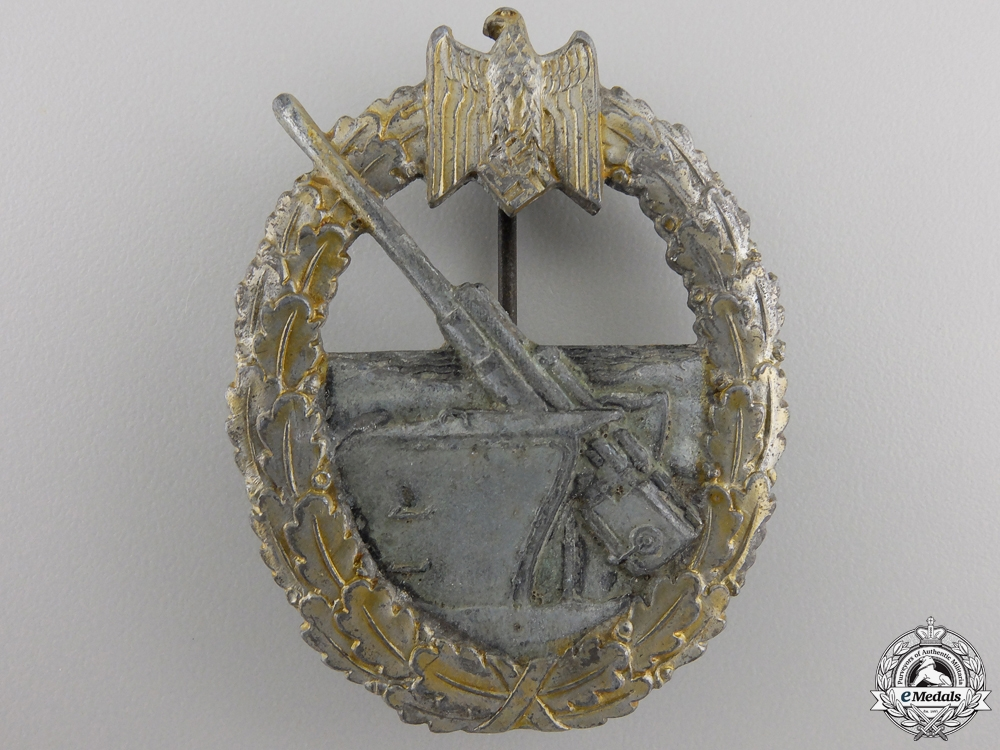 A Kriegsmarine Coastal Artillery War Badge