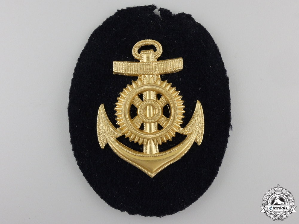 A Kriegsmarine Engineer Room Specialist Officer's Career Sleeve Insignia