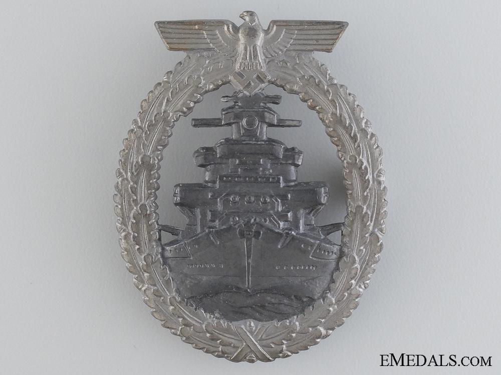 A Kriegsmarine High Seas Fleet Badge by F.O.