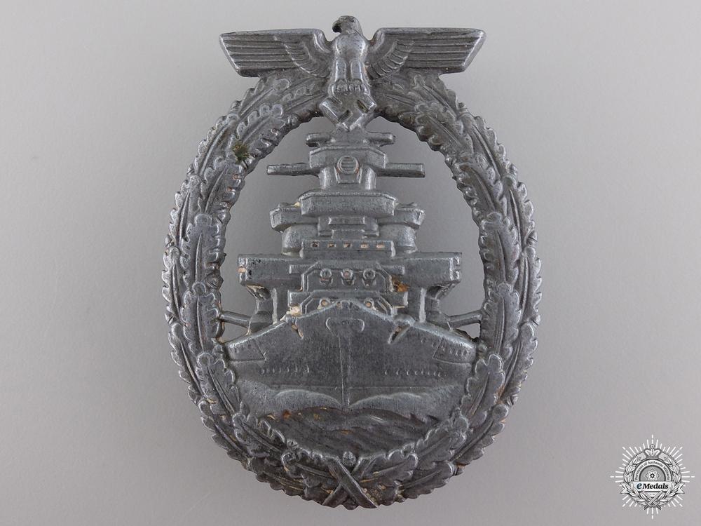 A Kriegsmarine High Seas Fleet Badge; French Made