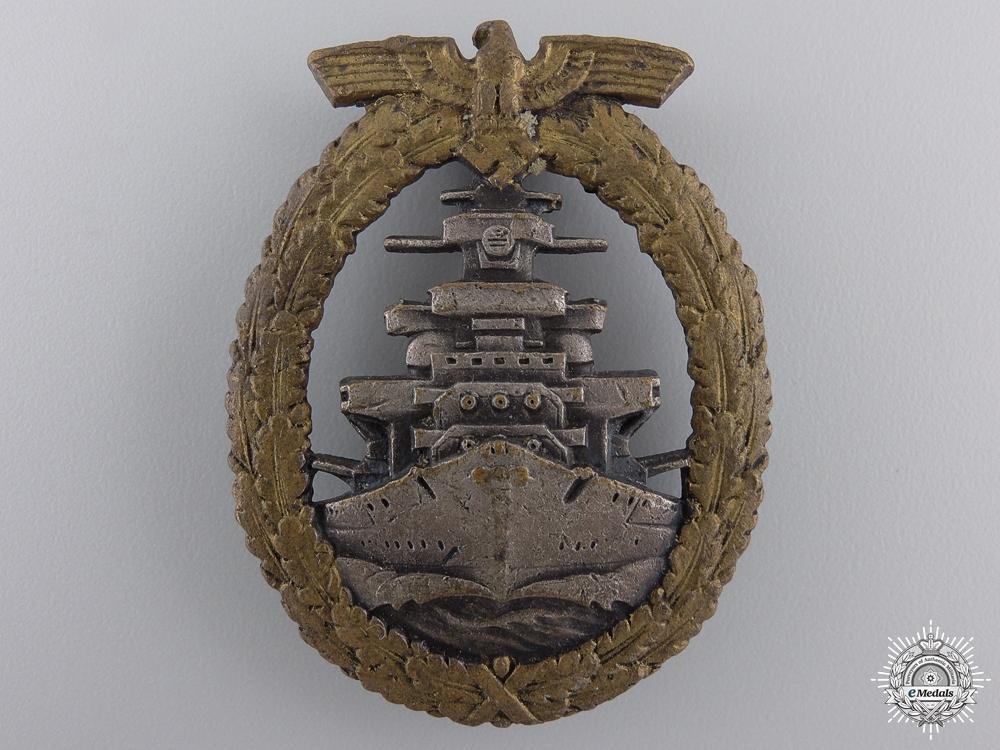 A Kriegsmarine High Seas Fleet Badge by Schwerin, Berlin