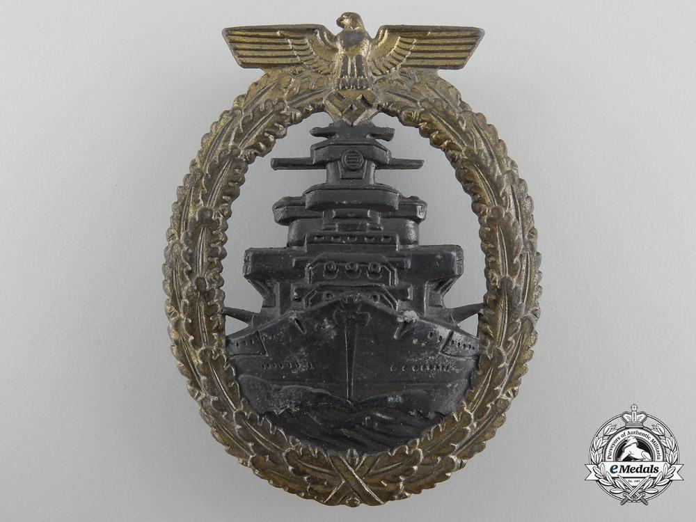 A Kriegsmarine High Seas Fleet Badge by Friedrich Orth, Wien