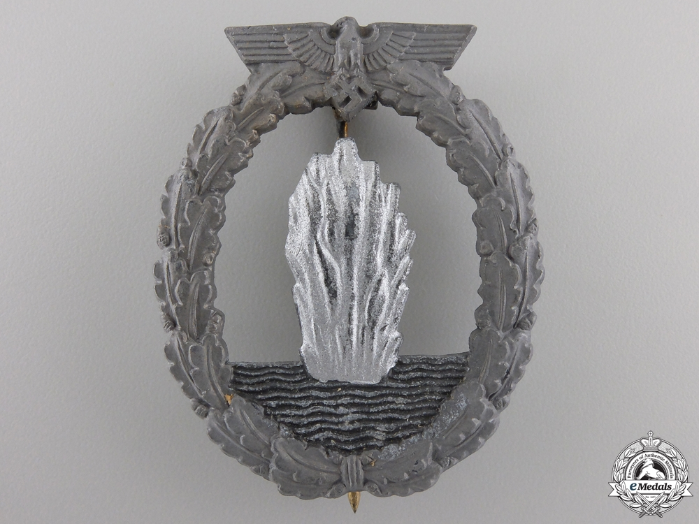 A Kriegsmarine Minesweeper Badge by Rudolf Souval