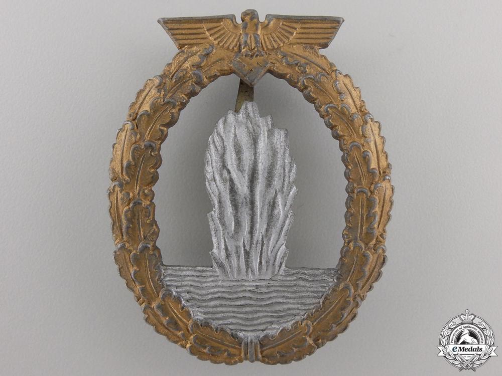 A Kriegsmarine Minesweeper War Badge by Rudolf A Karneth