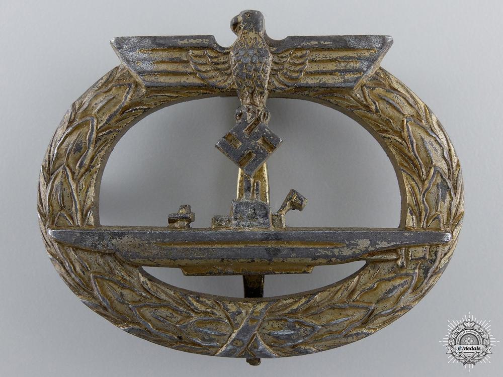 A Kriegsmarine Submarine War Badge; Unmarked