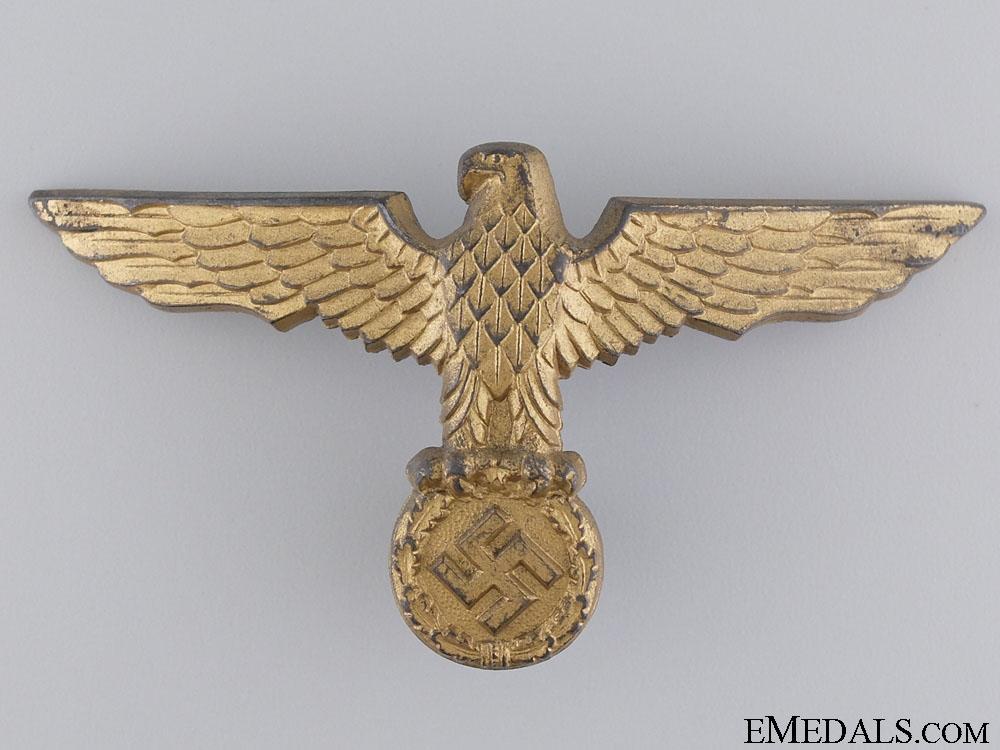 A Kriegsmarine Tropical Pith Helmet Eagle