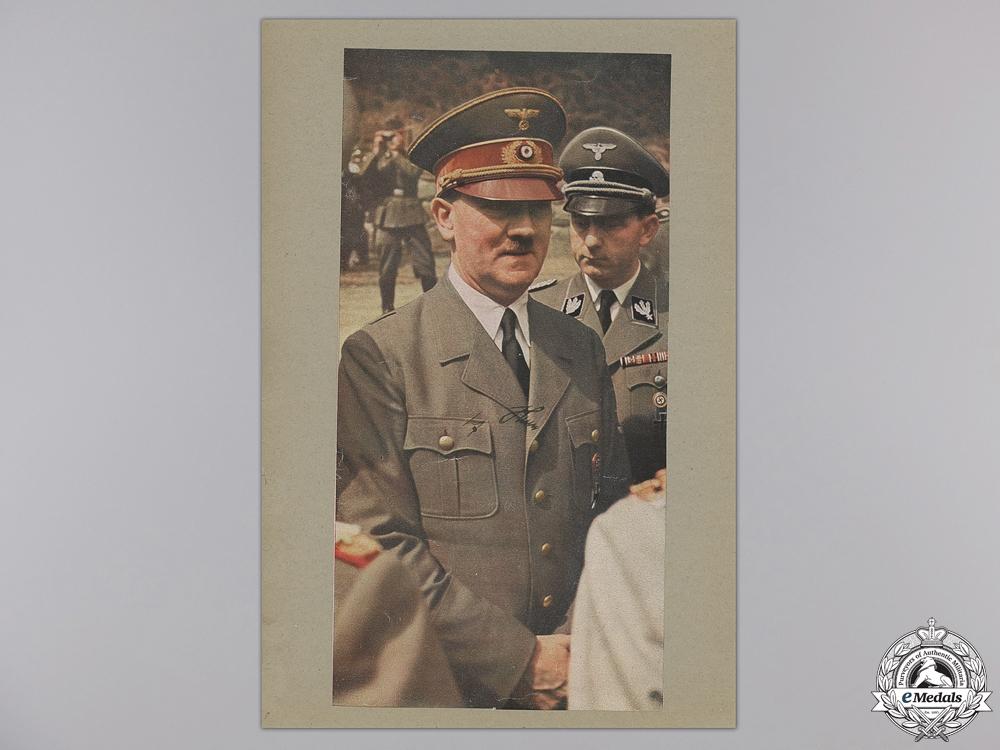 A Large & Autographed Colour Photograph of AH