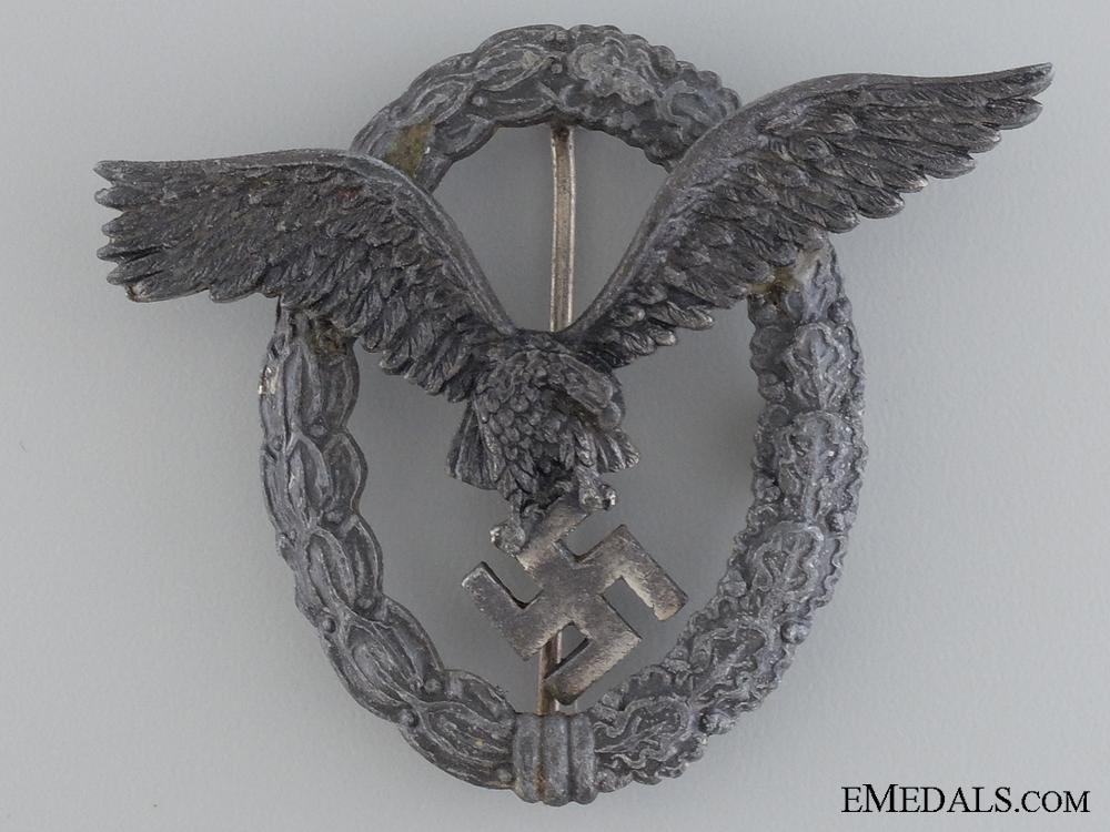 A Late War Luftwaffe Pilot's Badge by Assmann