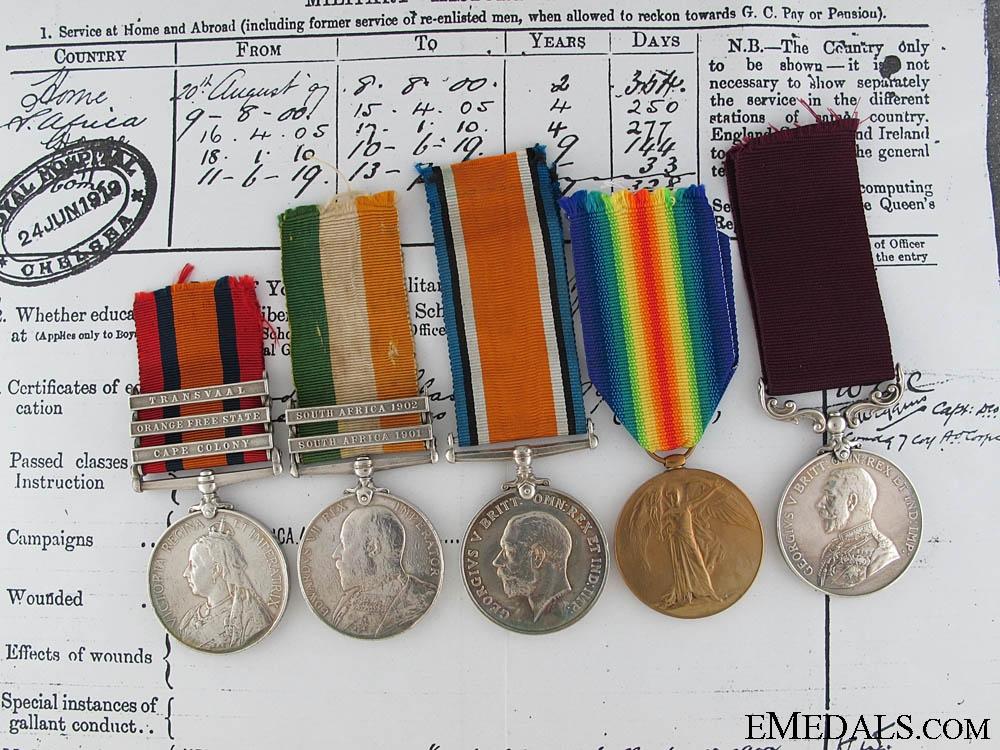 A South Africa & First War Long Service Group