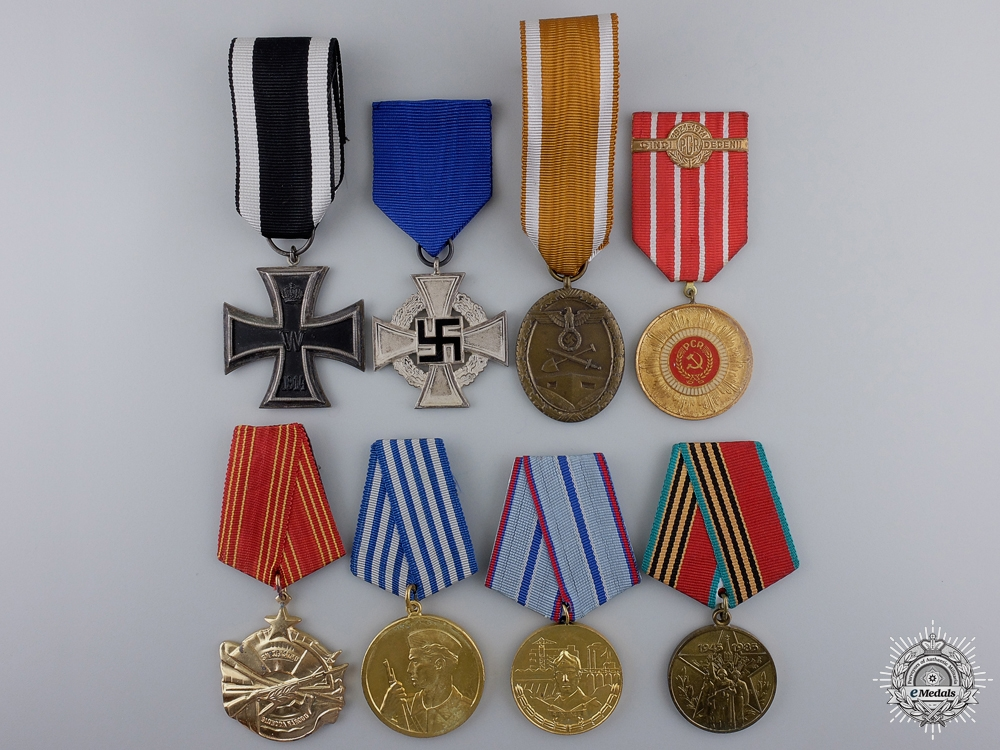 A Lot of 8 European Awards and Medals