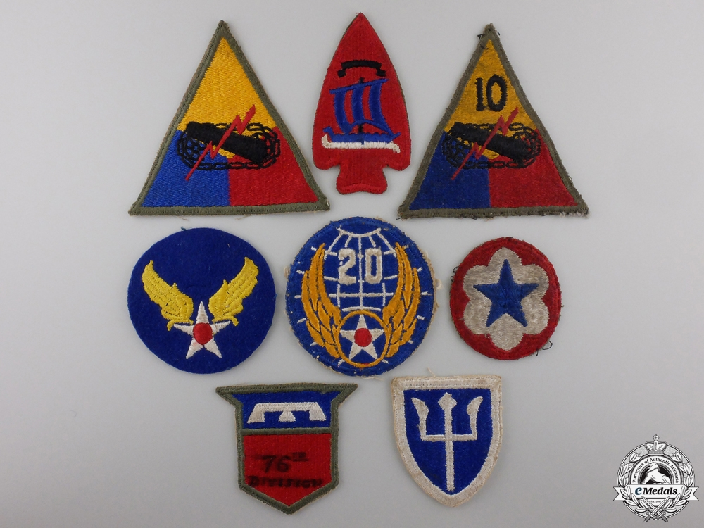 A Lot of Eight Second War American Army Patches